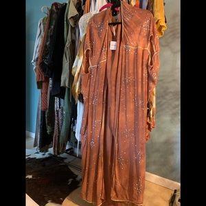 Freepeople sheer sequin kimono duster